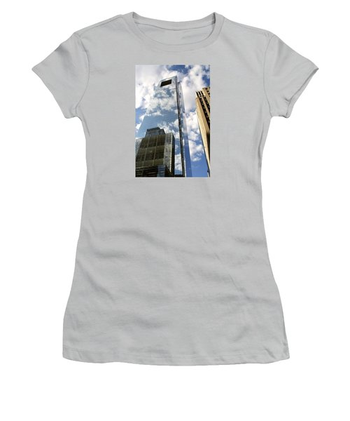 Women's T-Shirt (Junior Cut) featuring the photograph Comcast Center by Christopher Woods