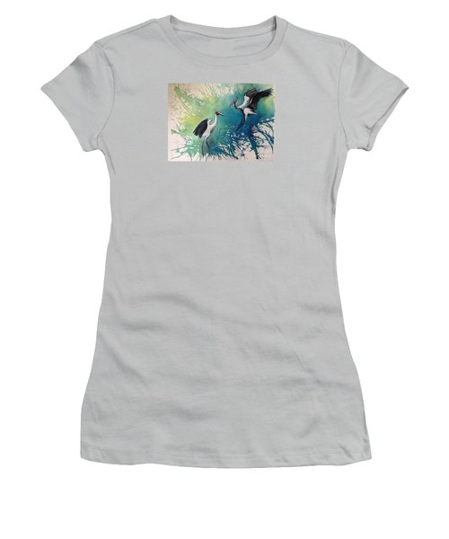 Dance Of The Brolgas - Original Sold Women's T-Shirt (Athletic Fit)