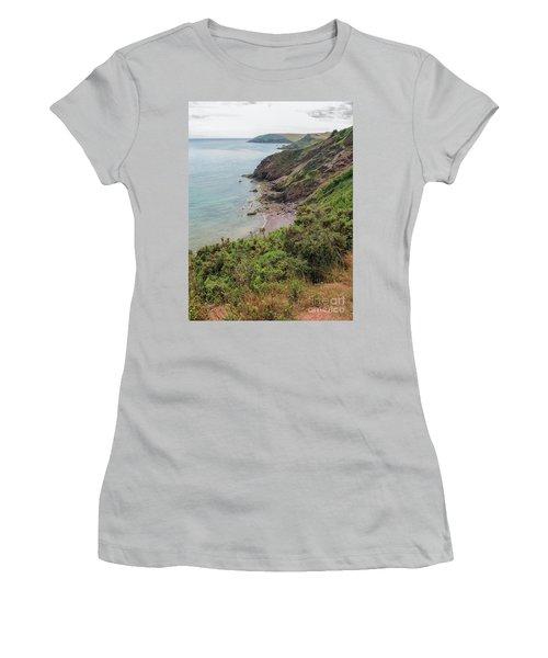 Devon Coastal View Women's T-Shirt (Athletic Fit)