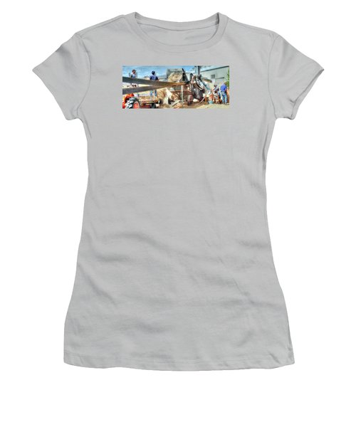 Filling The Sack 3485 Women's T-Shirt (Junior Cut) by Jerry Sodorff