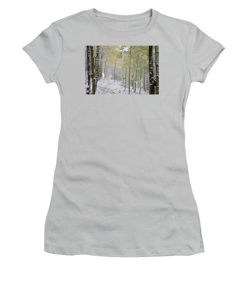 First Snow Fall Women's T-Shirt (Athletic Fit)