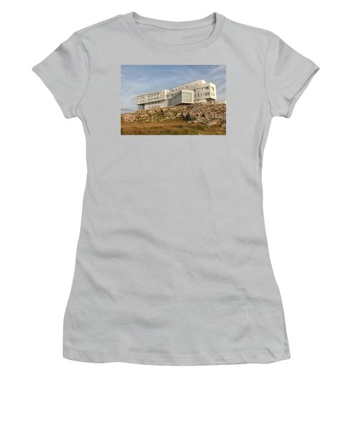 Fogo Island Inn Women's T-Shirt (Junior Cut) by Eunice Gibb