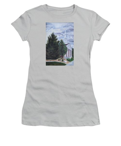 Hale Street Chapel Women's T-Shirt (Junior Cut) by Jane Autry