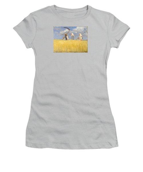 Harvesters Women's T-Shirt (Junior Cut) by Anna Ancher