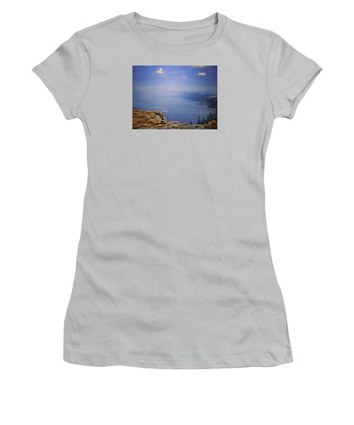 Women's T-Shirt (Junior Cut) featuring the painting High Above by Dan Whittemore