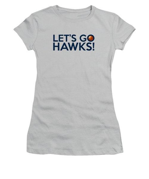 Let's Go Hawks Women's T-Shirt (Junior Cut) by Florian Rodarte