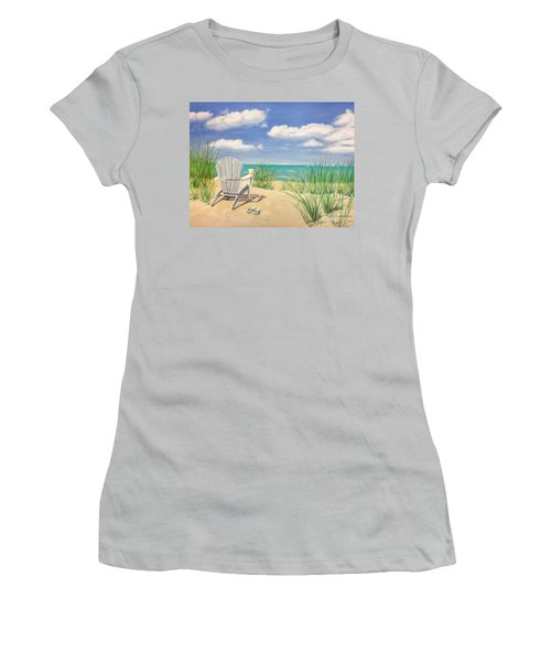 Life Is A Beach Women's T-Shirt (Athletic Fit)