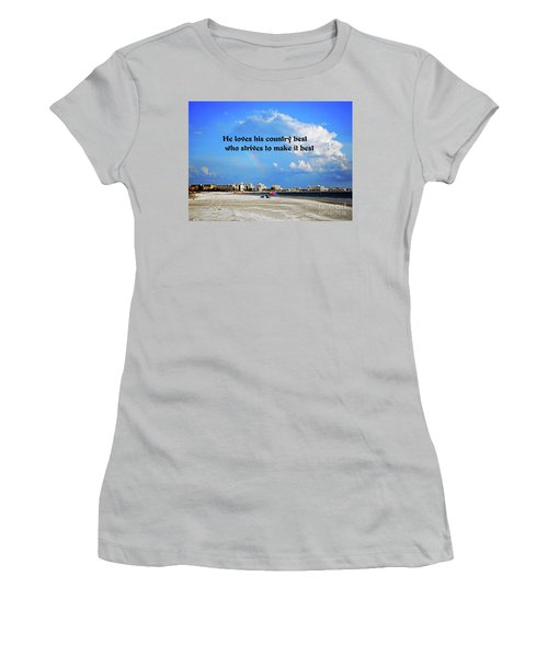 Love Of Country Women's T-Shirt (Athletic Fit)