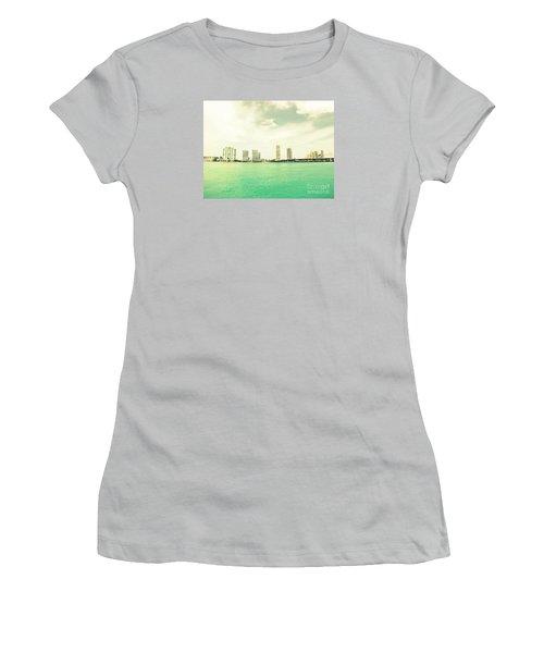 Miami  Women's T-Shirt (Junior Cut) by France Laliberte