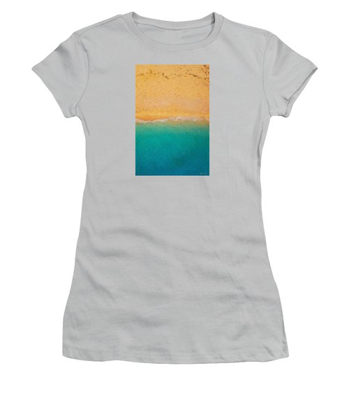 Not Quite Rothko - Surf And Sand Women's T-Shirt (Athletic Fit)