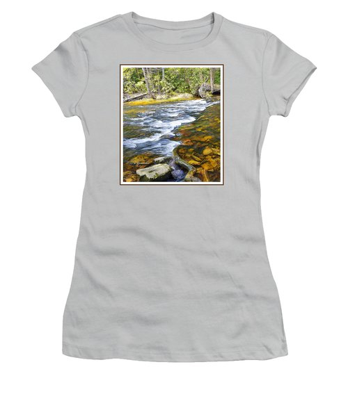 Pennsylvania Mountain Stream Women's T-Shirt (Junior Cut) by A Gurmankin