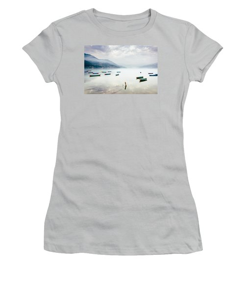 Phewa Lake In Pokhara, Nepal Women's T-Shirt (Athletic Fit)