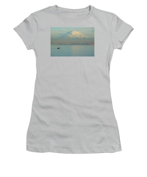 Puget Sound Women's T-Shirt (Junior Cut) by Angi Parks