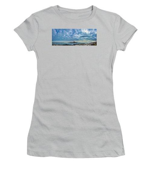Ram Island Light Women's T-Shirt (Junior Cut) by Alana Ranney