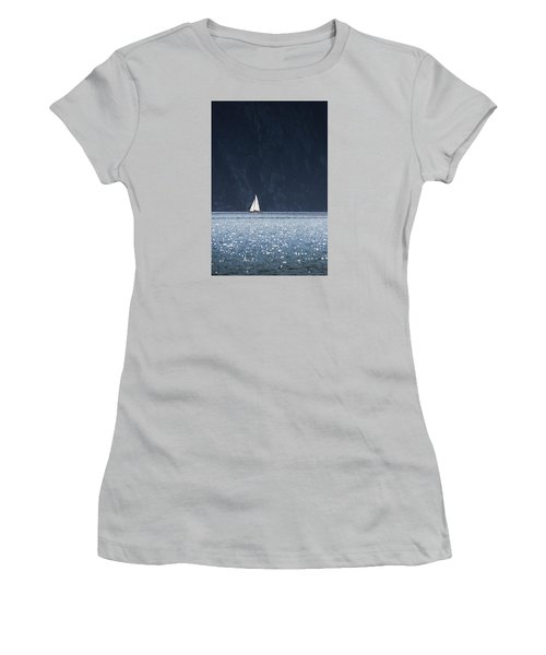 Sailboat Women's T-Shirt (Junior Cut) by Chevy Fleet
