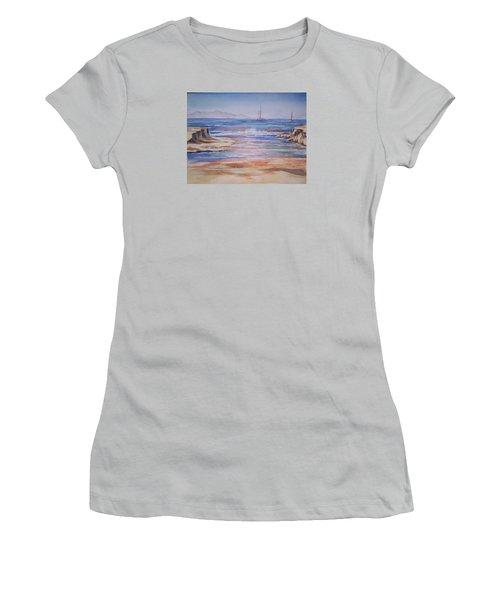 Santa Cruz Women's T-Shirt (Junior Cut) by Becky Chappell