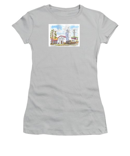 Santa Cruz Mission, Santa Cruz, California Women's T-Shirt (Athletic Fit)