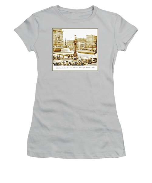 Soldiers' And Sailors' Monument Dedication, Indianapolis, Indian Women's T-Shirt (Junior Cut) by A Gurmankin