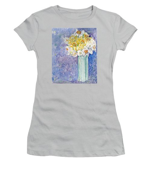 Spring Blossoms Women's T-Shirt (Junior Cut) by Jan Bennicoff
