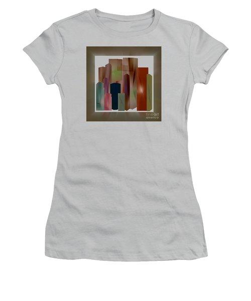 Women's T-Shirt (Junior Cut) featuring the digital art The Block by John Krakora