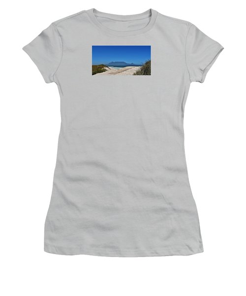 Women's T-Shirt (Junior Cut) featuring the photograph The View At Table Mountain by Werner Lehmann
