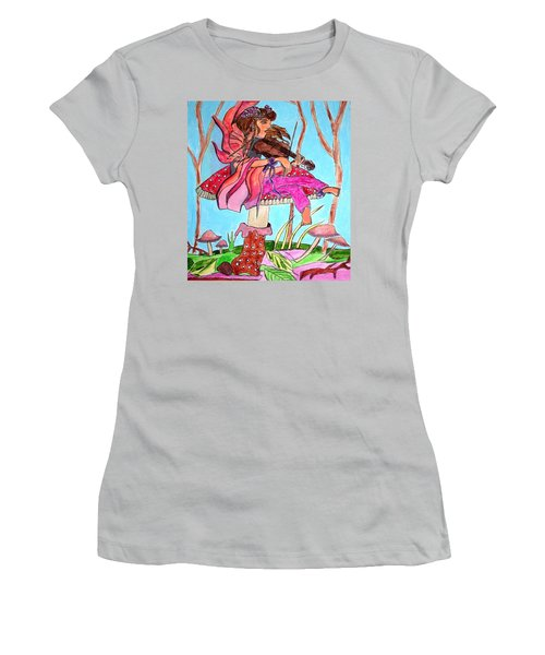 The Violinist Fairy Women's T-Shirt (Athletic Fit)
