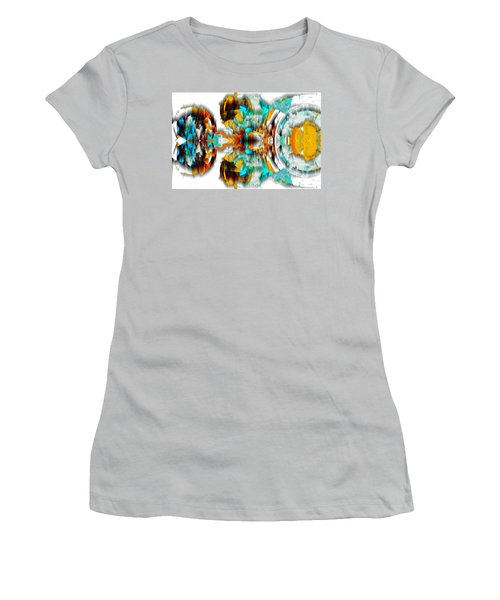 Women's T-Shirt (Athletic Fit) featuring the digital art Untitled Series 992.042212 -c by Kris Haas
