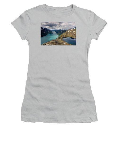 View From Bessegen Ridge Women's T-Shirt (Junior Cut) by Aivar Mikko