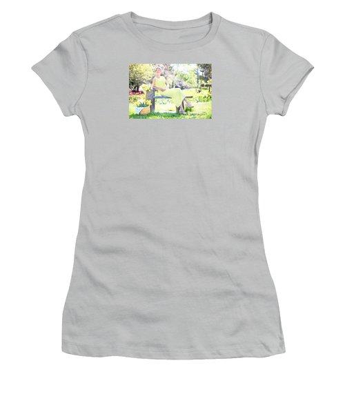 Vintage Val Spring Tulips Women's T-Shirt (Junior Cut) by Jill Wellington