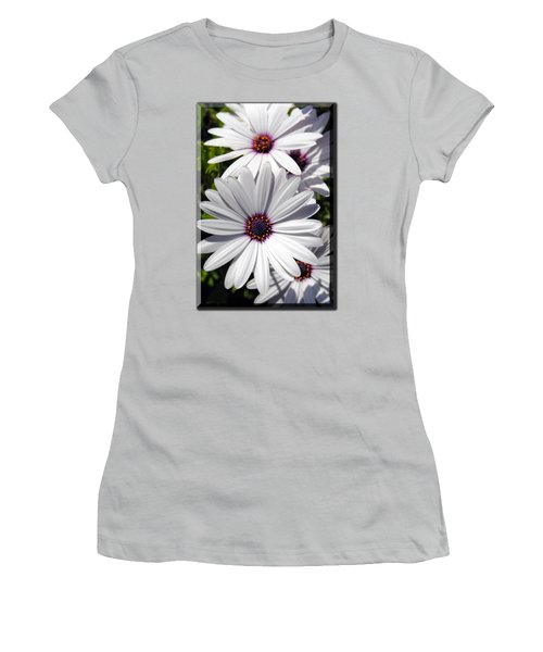 White Flower T-shirt Women's T-Shirt (Junior Cut) by Isam Awad