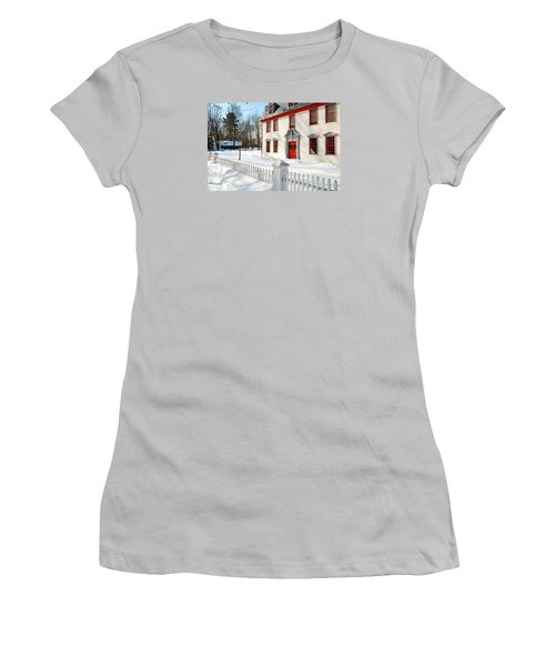 Women's T-Shirt (Junior Cut) featuring the photograph Winter In The Country by James Kirkikis