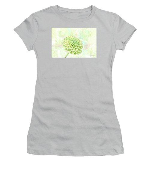 10891 Green Chrysanthemum Women's T-Shirt (Athletic Fit)