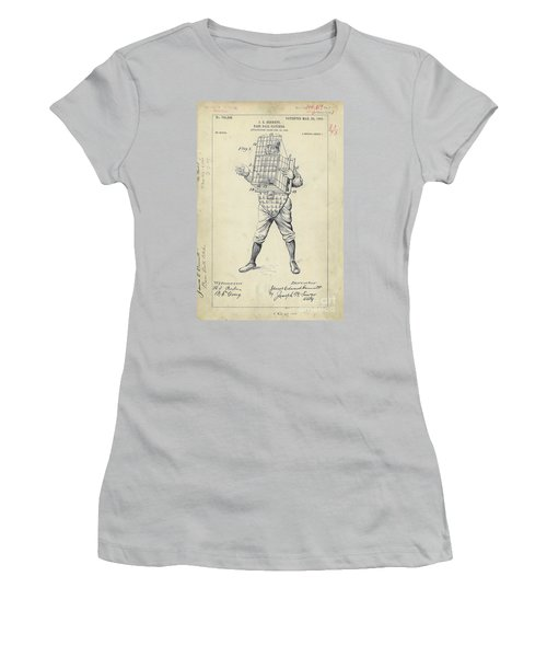 1904 Baseball Catcher Patent Women's T-Shirt (Athletic Fit)