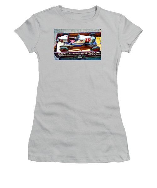 1927 Miller 91 Rear Drive Racing Car Women's T-Shirt (Junior Cut) by Josh Williams