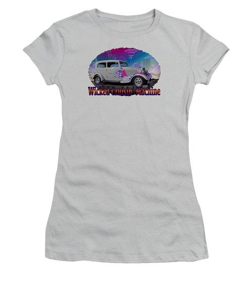 1934 Ford Delux Women's T-Shirt (Junior Cut) by Richard Farrington