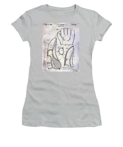 1941 Baseball Glove Patent Women's T-Shirt (Athletic Fit)