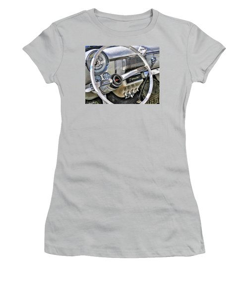 1950 White Chevy Coupe Women's T-Shirt (Junior Cut) by Trey Foerster