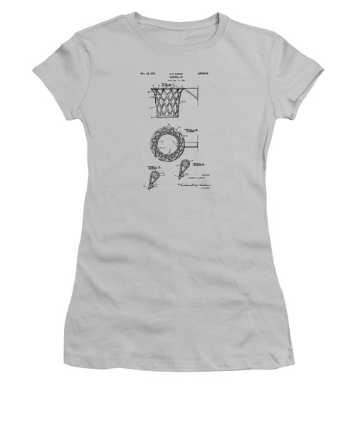 1951 Basketball Net Patent Artwork - Vintage Women's T-Shirt (Junior Cut)