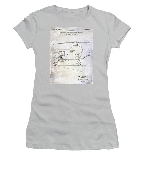 1953 Helicopter Patent Women's T-Shirt (Athletic Fit)