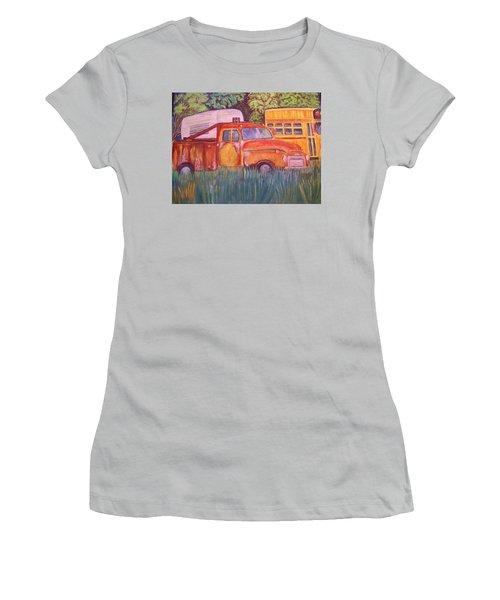1954 Gmc Wrecker Truck Women's T-Shirt (Junior Cut) by Belinda Lawson