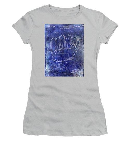 1943 Baseball Glove Patent Women's T-Shirt (Junior Cut) by Jon Neidert