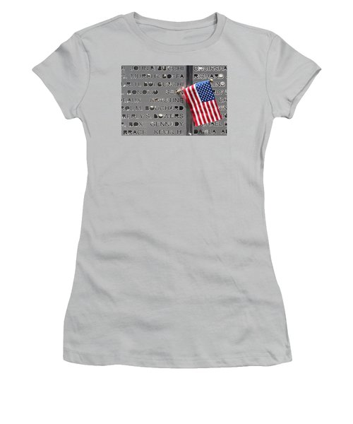9-11 Memorial Rocky Point New York Women's T-Shirt (Junior Cut) by Bob Savage