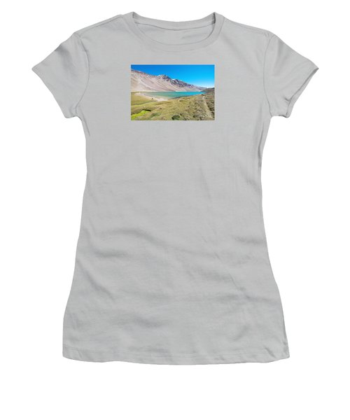 Women's T-Shirt (Athletic Fit) featuring the photograph Chandratal Lake by Yew Kwang