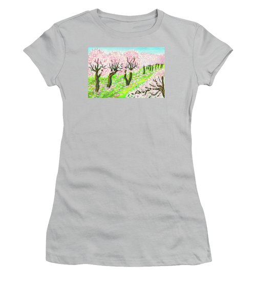 Spring Garden, Painting Women's T-Shirt (Junior Cut) by Irina Afonskaya