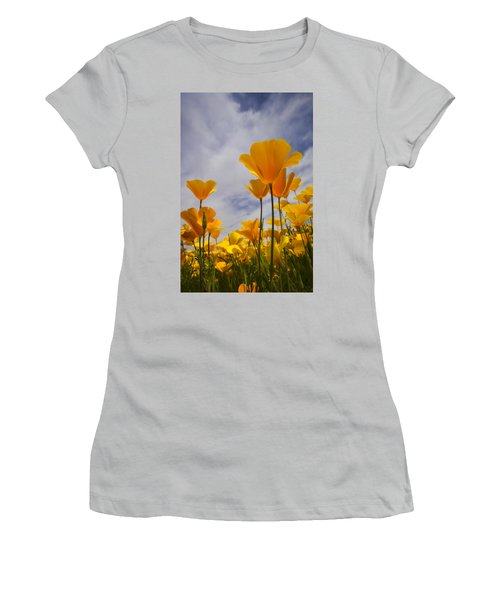 Springtime Poppies  Women's T-Shirt (Athletic Fit)