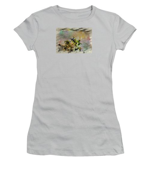 White Breasted Nuthatch Women's T-Shirt (Junior Cut) by Yumi Johnson