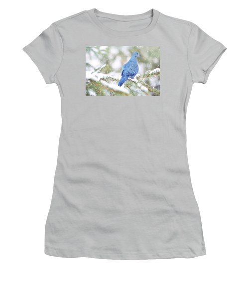 Winter Birds Women's T-Shirt (Junior Cut) by Jill Wellington