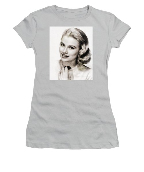 Grace Kelly, Vintage Hollywood Actress Women's T-Shirt (Junior Cut) by John Springfield