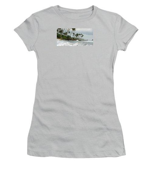 Women's T-Shirt (Junior Cut) featuring the photograph Long Beach Kogalla by Christian Zesewitz