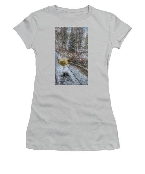 Mountain Living Women's T-Shirt (Junior Cut) by Fiona Kennard